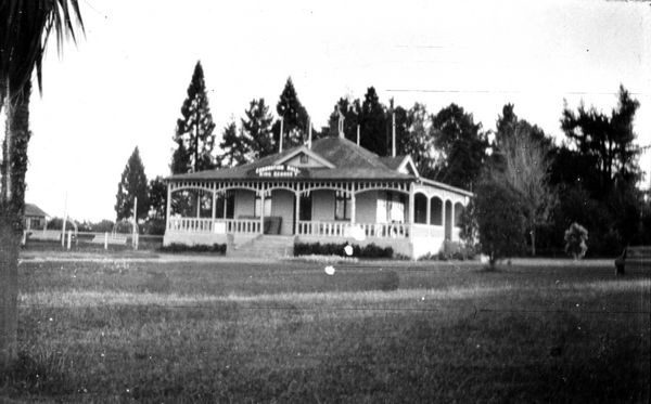 Coronation Hall, Queen Elizabeth Park, Masterton, erected to celebrate coronation of King George V
